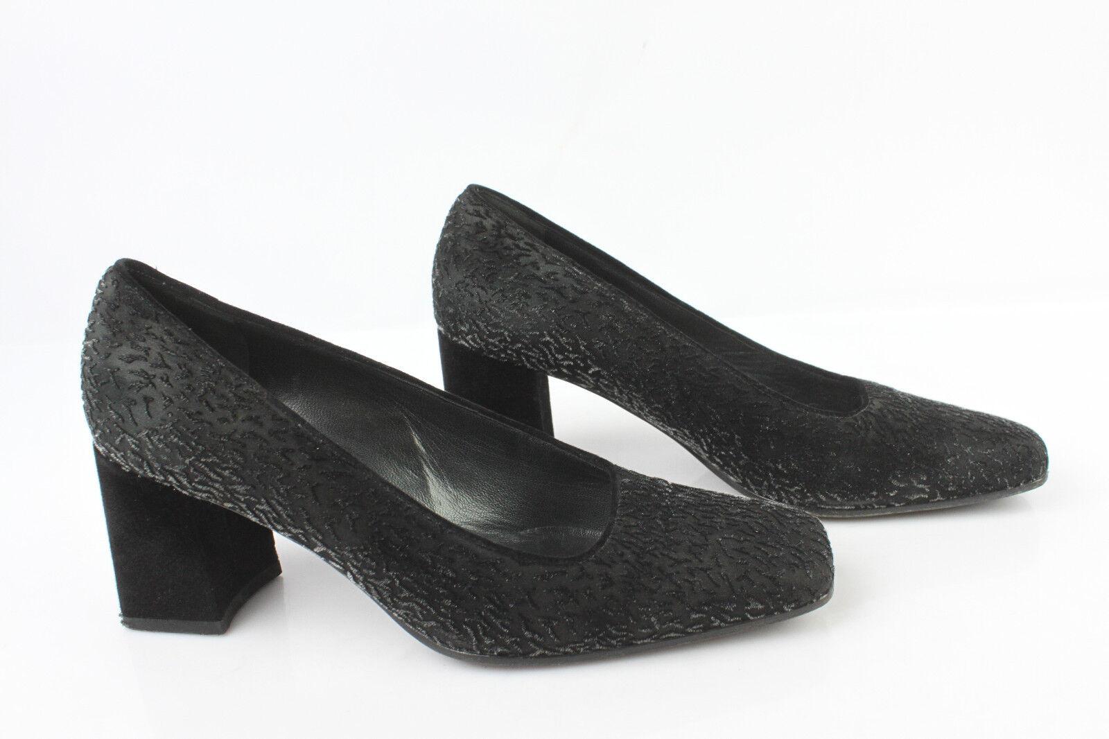 Court shoes FRANCOIS PINET Paris Leather and Black Velvet T 36