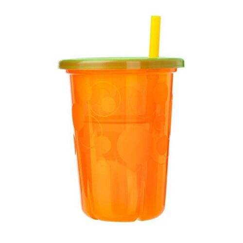 Vasos Con Pajia Pitillos Para Niños Copas Coloridas Plástico Antigoteo Duradero