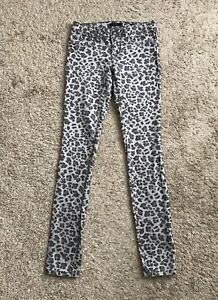 93e514fc52bcd JESSICA SIMPSON Womens Size 27 Kiss Me Jeggings Skinny Jeans Animal ...