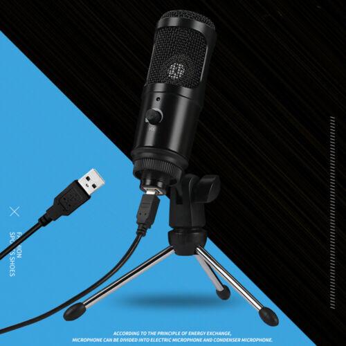 USB-Mikrofon Desktop Kondensatormikrofon Broadcasting Mik mit Clip-Stativ G0F8