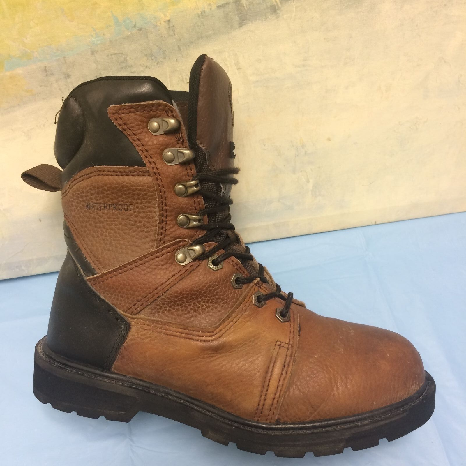 HERMAN SURVIVORS MEN'S BOOTS WATERPROOF THERMOLITE BROWN LEATHER 9.5M