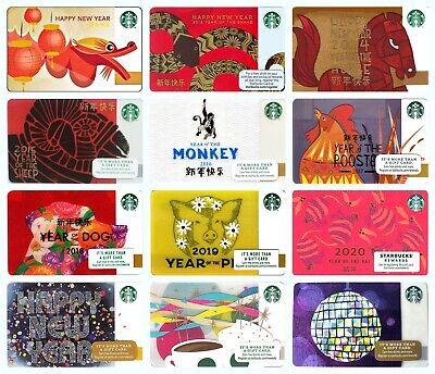 Starbucks Chinese New Lunar Year 10 Gift Cards Complete Full Set 3 Bonus Cards Ebay