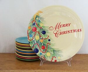 Fiesta-CHRISTMAS-TREE-on-Ivory-Post-86-11-3-4-034-Chop-Plate-1st-Quality