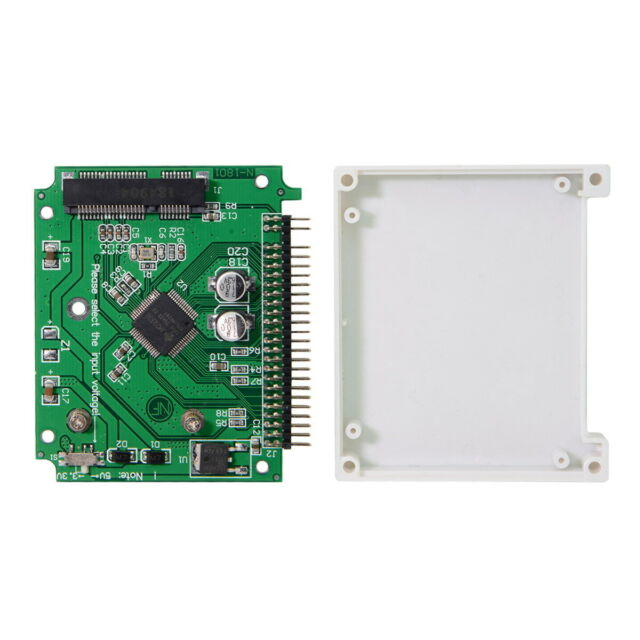 2.5 inch 44pin IDE to mSATA SSD Case Enclosure Adapter for Laptop mSATA to IDE
