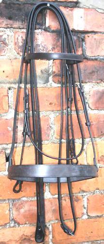 Heritage 100% inglés hecho Tamaño Completo Doble Weymouth Brida Negro o Marrón riendas