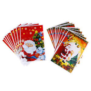 10pcs-Christmas-Tree-Santa-Claus-Plastic-Bags-Party-Jewelry-Gift-Bag-17x25cm