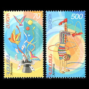"Sc 657/8 Mnh An Indispensable Sovereign Remedy For Home Armenia 2002 Europa Stamps ""the Circus"""
