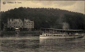 Schiffe-1910-Bateaux-luse-Namuer-Dinant-Touriste-Schiff-am-Chateau-de-Dave