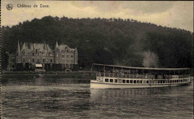 Schiffe ~1910 Bateaux luse Namür - Dinant Touriste Schiff am Chateau de Dave