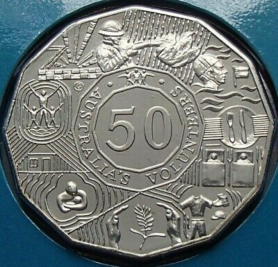 UNC ex Mint Set 2003 Australian Fifty cent 50c coin AUSTRALIA/'S VOLUNTEERS