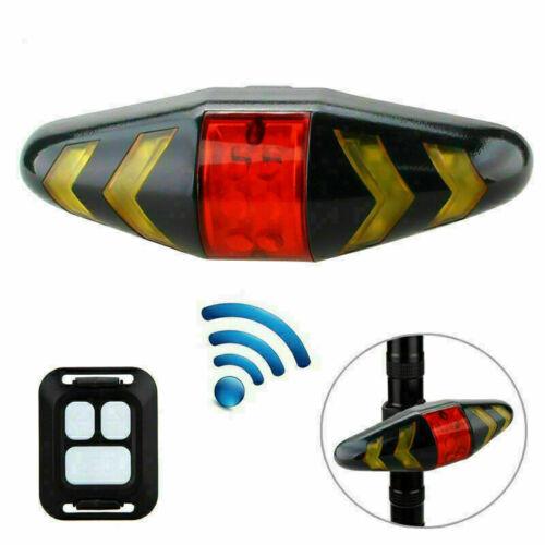Wireless Remote Control Bicycle Tail Light Bike Rear Lamp Turn Signal Indicator