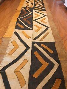 genuine-11-feet-African-Congo-Kuba-Raffia-cloth-fabric-natural-woven-handmade