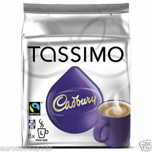 Details About Tassimo Cadbury Hot Chocolate 240g 8 T Discs 8 Drinks