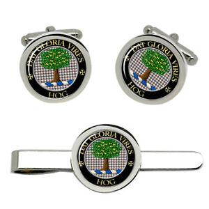 Hog-Scottish-Clan-Cufflinks-and-Tie-Clip-Set