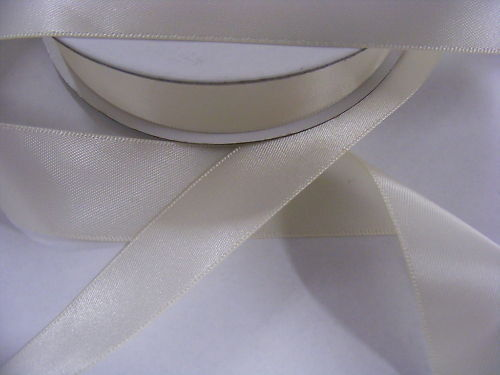 Ribbon Satin Cream 16mm x 20 metres
