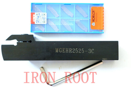 10 MGMN300-M Free Shipping MGEHR2525-3 CNC lathe Grooving Turning Toolholder