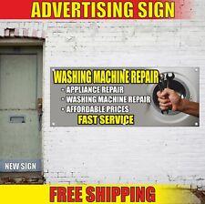 Washing Machine Repair Advertising Banner Vinyl Mesh Decal Sign Appliance Fast