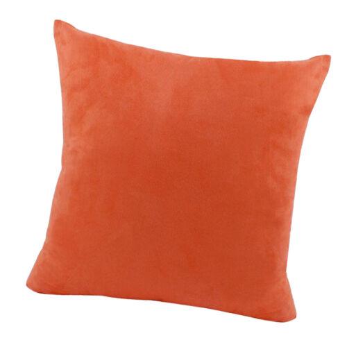 New Sofa Throw Pillow Cushion Cover Solid Color Euro Sham Soft Pillowcase
