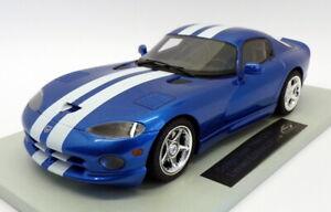 Ls-Collectibles-1-18-escala-LS016A-1996-Dodge-Viper-GTS-Met-Azul-Blanco-De-Rayas