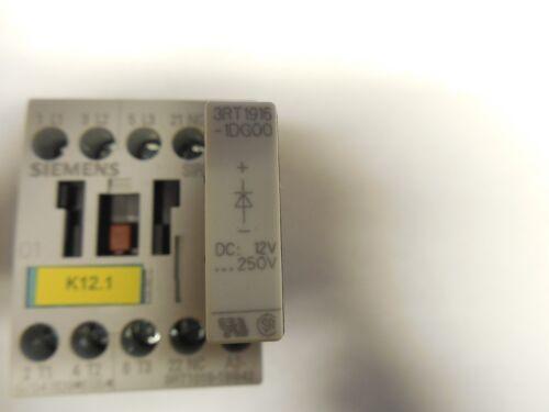 SIEMENS CONTACTOR 3RT1015-1BB42 24V COIL 3RT10151BB42  w// 3RT1916-1DG00