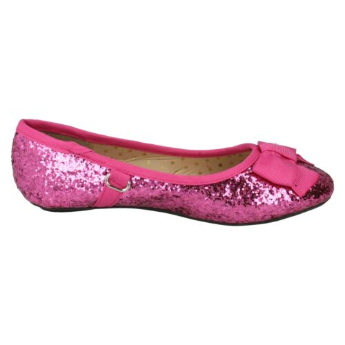H2r376 Girls Cutie Pink Rotgold Black Glitter Party Bow