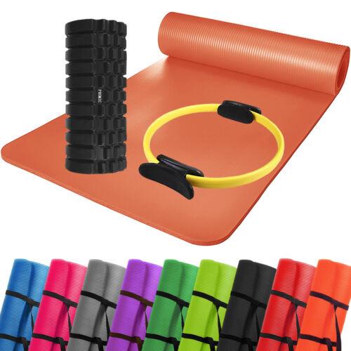 Yoga Pilates Set Yogamatte Pilates Ring Faszienrolle Strecken Widerstand Workout Fitness & Jogging Hand- & Fußgelenkgewichte