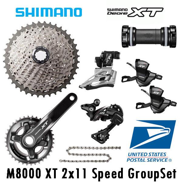 Shimano DEORE XT M8000 22 velocidad Groupset Cassette 40-46T 34T 36T 38T 7PCS Bicicleta de montaña