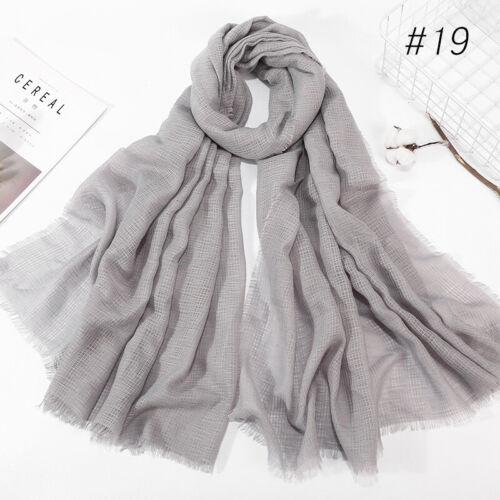 Women Viscose Maxi Crinkle Cloud Hijab Scarf Shawl Premium Islam Muslim Cotton