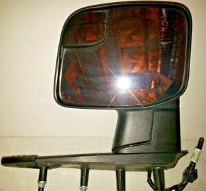 Mirror Power Integrated Spotter Textured Black Passenger Side for 10-13 Ford Van