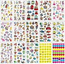 5 Sheet Stickers 95x155mm Kids Boy Girl Party Loot Bag Fillers Favor Gift Supply