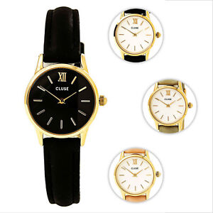 03c2a2727 Cluse Women's La Vedette Rose Gold Steel Leather Strap Watch | eBay