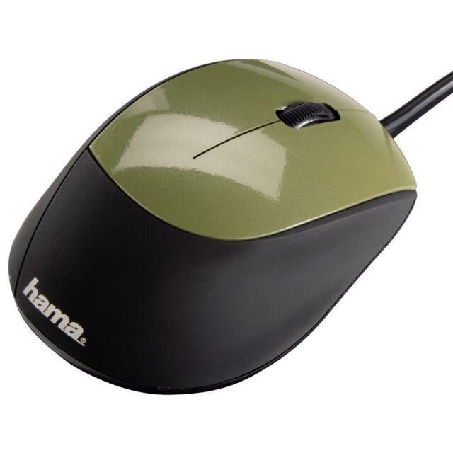 Hama Optische USB Maus M364, 3 Tasten, 800 dpi, Schwarz / Khaki / Grün 52387