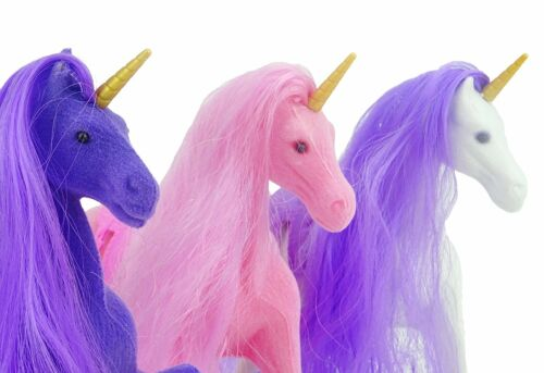 ES273 MERAVIGLIE ® 3 FLOCCATI Unicorni stabile SET CON ACCESSORI