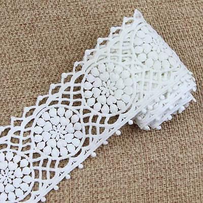 2 Yards Dentelle Guipure Applique en Coton Galon Lace Scrapbooking Blanc