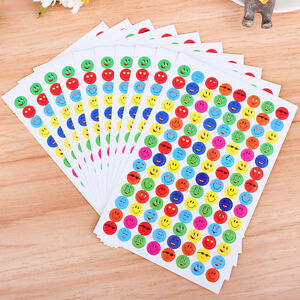 10Pcs-Pack-Children-Faces-Reward-Stickers-School-Teacher-Merit-Praise-EP