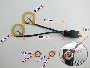 35mm piezo with jack drum trigger for diy electronic drum 736649927827 ebay. Black Bedroom Furniture Sets. Home Design Ideas
