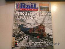 ** Rail Passion n°54 Pérou / monophase 25kV / Monastier Mende Bastide