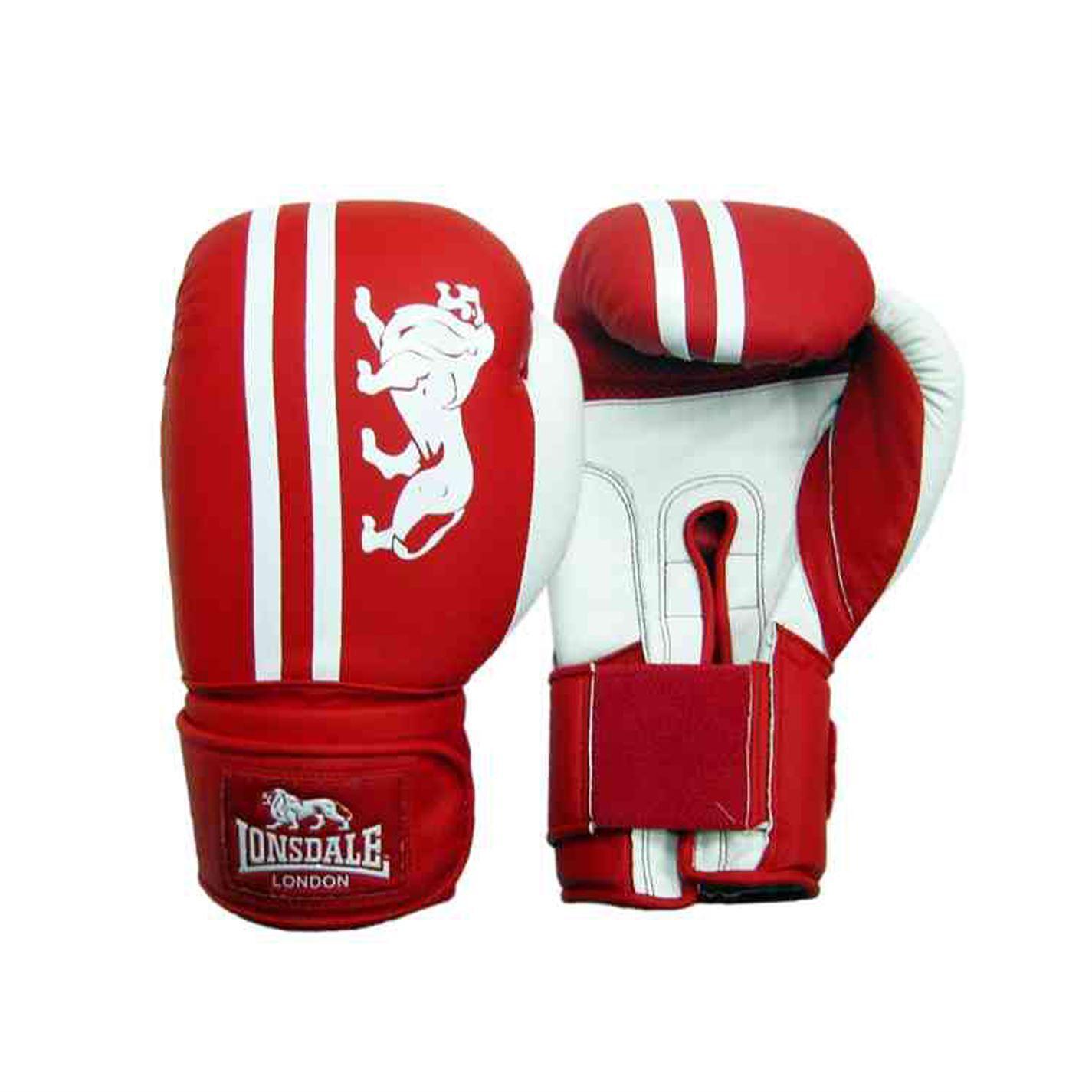 Lonsdale Club Sparring Guanti Da Boxe Rosso/Bianco Guanti allenamento palestra