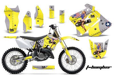 Accurato Dirt Bike Kit Grafica Decalcomania Mx Per Suzuki Rm125 Rm250 2001-2009 Tbomber Y Originale Al 100%