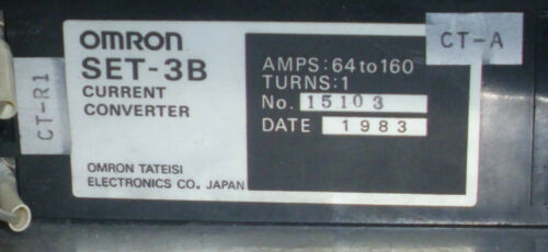 Turns: 1 Omron SET-3B Current Converter 64-160 Amps USED WARRANTY