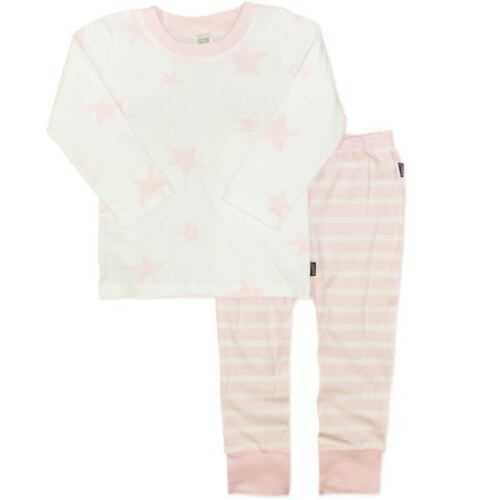 BNWT Bonds Stars and Stripes Girls Pyjamas PJs Sleep Pink Winter Size 0 2 3