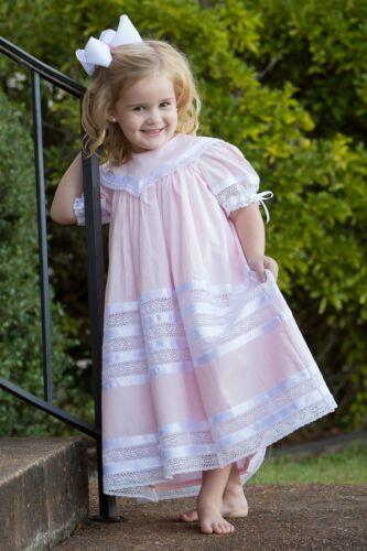 Savannah Lace Heirloom Pink NEW Strasburg Children Pink Easter Dress for Girls