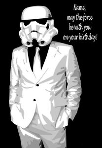 Stormtrooper star wars personalised birthday card 2 any name image is loading stormtrooper star wars personalised birthday card 2 any bookmarktalkfo Images