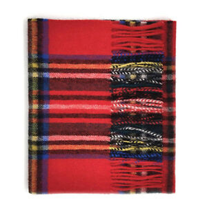 Kiltane-of-Scotland-100-Lambswool-Scottish-Tartan-Scarf-Shawl-XL-Royal-Stewart