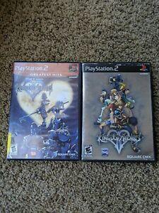 Kingdom-Hearts-1-amp-2-PS2-Complete-CIB-TESTED