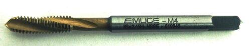 EMUGE Metric Tap M4x0.7 HELICAL FLUTE HSSCO5/% M35 HSSE TiN Coated