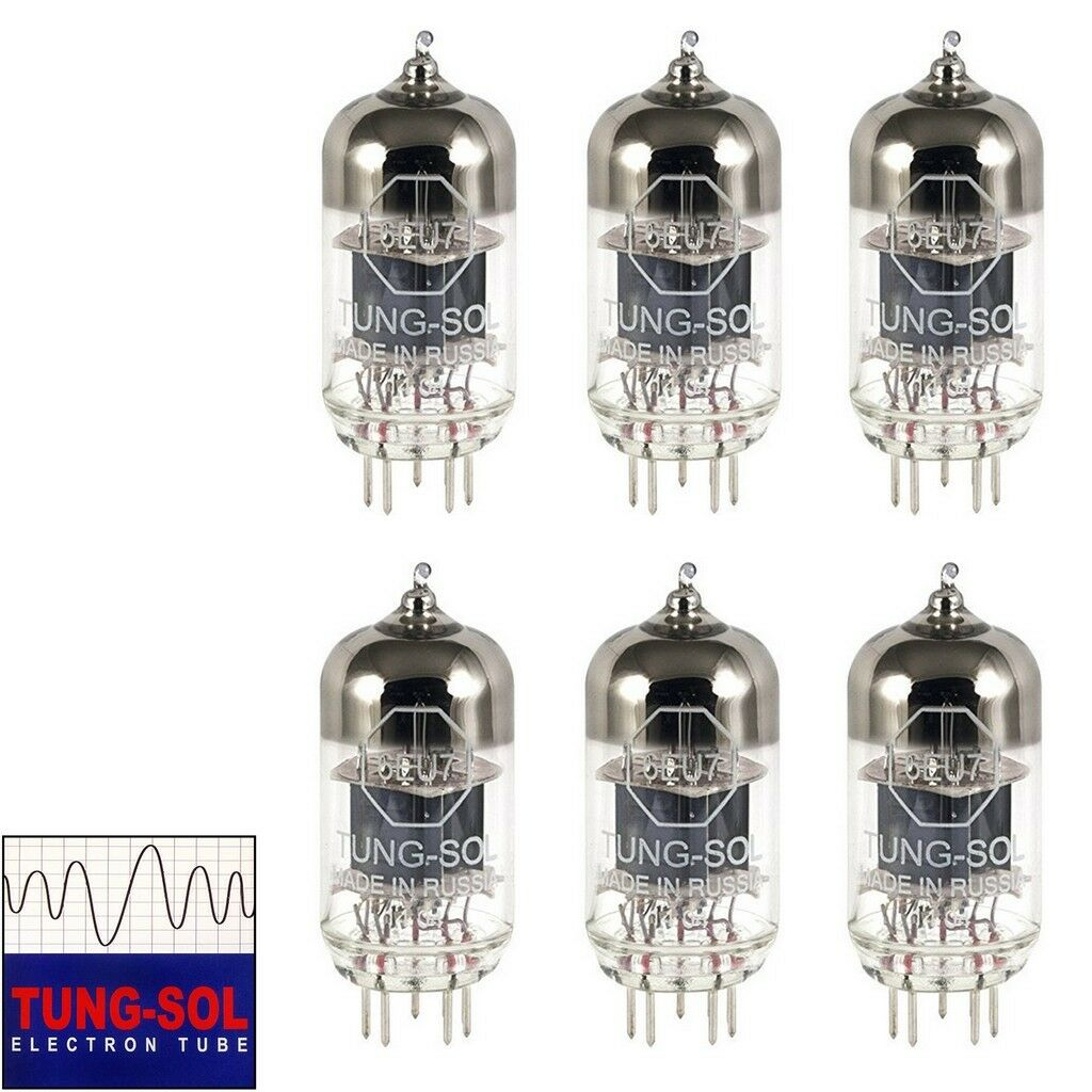 Brand New Gain Matched Sextet 6x Tung-Sol Reissue 6EU7 Vacuum Tubes