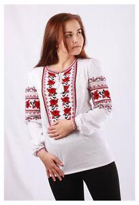 b3277b96e80707 Image is loading Ukrainian-embroidery-women-vyshyvanka -folk-textile-ladies-shirt-