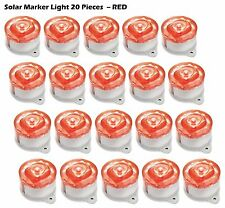 20-pack Red LED Solar-powered Drive way lights