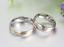 Coppia-Fedi-Fede-Fedine-Anello-Anelli-Fidanzamento-Nuziali-Oro-Acciaio-Zircone miniatura 4